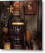Steampunk - Back In The Engine Room Metal Print