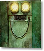 Steampunk - Be Happy Metal Print