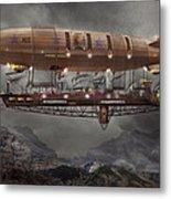 Steampunk - Blimp - Airship Maximus  Metal Print