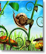 Steampunk - Bugs - Evolution Take Time Metal Print