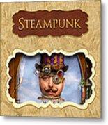 Steampunk Button Metal Print