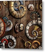 Steampunk - Clock - Time Machine Metal Print by Mike Savad