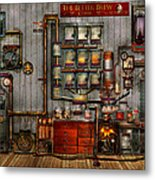 Steampunk - Coffee - The Company Coffee Maker Metal Print