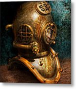 Steampunk - Diving - The Diving Helmet Metal Print