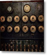 Steampunk - Electrical - Center Of Power Metal Print by Mike Savad
