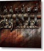 Steampunk - Electrical - Motorized  Metal Print by Mike Savad