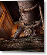Steampunk - Gear - Out Of Order  Metal Print by Mike Savad