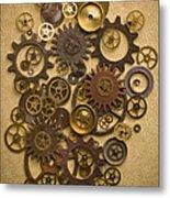 Steampunk Gears Metal Print by Diane Diederich