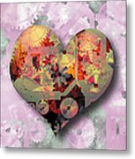 Steampunk Heart Metal Print by The Art of Marsha Charlebois