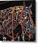 Steampunk Horse Metal Print