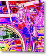 Steampunk Iron Horse #4 A Metal Print