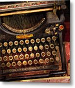 Steampunk - Just An Ordinary Typewriter  Metal Print