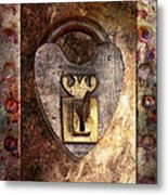 Steampunk - Locksmith - The Key To My Heart Metal Print by Mike Savad