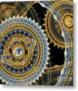 Steampunk Machine Metal Print
