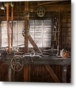 Steampunk - Machinist - My Tinkering Workshop  Metal Print by Mike Savad