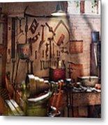 Steampunk - Machinist - The Inventors Workshop  Metal Print