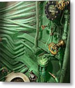 Steampunk - Naval - Plumbing - The Head Metal Print