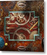 Steampunk - Pandora's Box Metal Print by Mike Savad