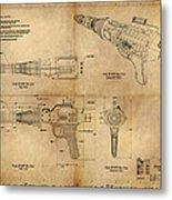 Steampunk Raygun Metal Print