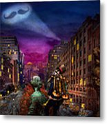 Steampunk - The Great Mustachio Metal Print by Mike Savad