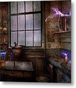 Steampunk - The Mad Scientist Metal Print by Mike Savad