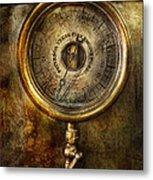 Steampunk - The Pressure Gauge Metal Print by Mike Savad