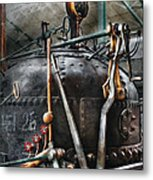 Steampunk - The Steam Engine Metal Print