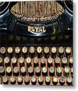 Steampunk - Typewriter -the Royal Metal Print