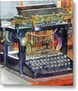 Steampunk - Vintage Typewriter Metal Print