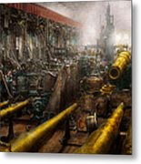 Steampunk - War - We Are Ready Metal Print