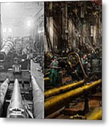 Steampunk - War - We Are Ready - Side By Side Metal Print