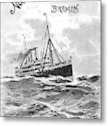 Steamship Menu, 1901 Metal Print