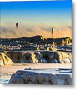 Steamy Iceburgs Metal Print