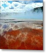 Steamy Springs Metal Print