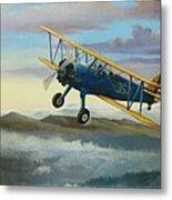 Stearman Biplane Metal Print