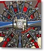 Stearman Engine Metal Print
