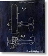 1929 Stearman Patent Drawing Blue Metal Print