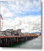 Stearns Wharf Santa Barbara California Metal Print