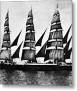 Steel Barque, 1921 Metal Print