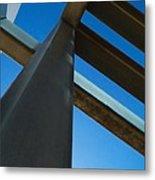 Steel Blue - Industrial Abstract Metal Print by Steven Milner