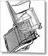 Steel Chair Metal Print