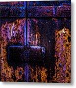 Steel Door Number Three Metal Print