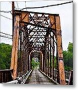 Steel Span Railroad Bridge Manayunk  Philadelphia Pa Metal Print