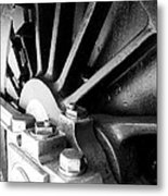 Steel Wheel. Metal Print