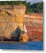 Steep Cliffs Metal Print