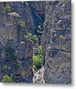 Steep Cliffs With Railroad Track Art Prints Metal Print