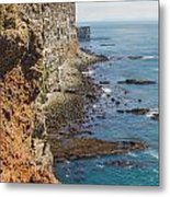 Steep Coast In Iceland Metal Print