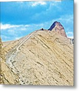 Steep Trail To Manly Beacon From Golden Canyon In Death Valley National Park-california  Metal Print
