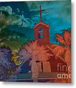 Steeple Bell Tower Metal Print by Beverly Guilliams
