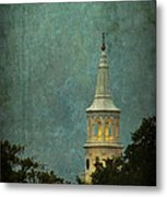 Steeple In A Storm Metal Print